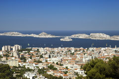 The view of creek in Marseille Royalty Free Stock Images