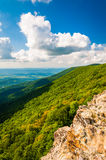 View from Crescent Rock, in Shenandoah National Park, Virginia. Royalty Free Stock Photography
