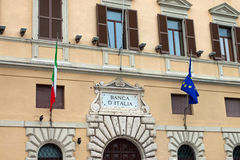 View of the crest of the Bank of Italy, Perugia Stock Photography