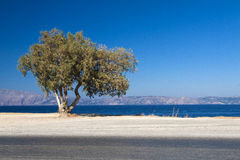 Image of Crete coast. View from Crete, Aegean sea, Greece Royalty Free Stock Photos