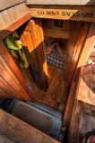 View Into Crew Quarters. On 101 year old historic wooden schooner Royalty Free Stock Photo