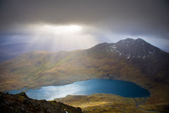 View from Crib Goch Mountain, Snowdonia National Park Stock Photography