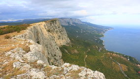 Colorful rocks in Crimea stock video