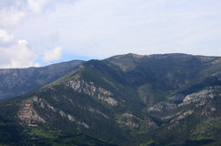 Mountains. View on Crimean mountains near Yalta Royalty Free Stock Images