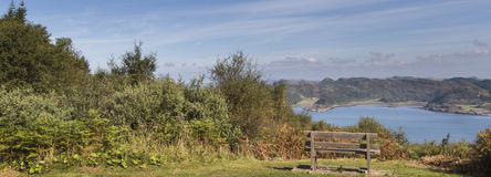 View from Crinan Forest in Scotland. View from Crinan Forest at Knapdale area of West Argyll in Scotland Stock Images
