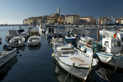 View at the croatian city Rovinj (Rovigno) Stock Images