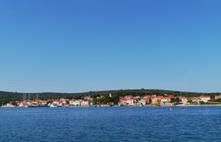 View of the Croatian village Ilovik Royalty Free Stock Images