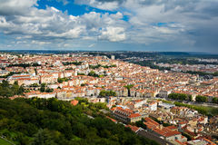 View of Croix Rousse Hill at Lyon city Stock Photos