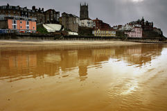 View of Cromer beach and town Royalty Free Stock Photography
