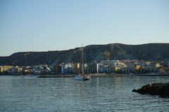View of Crotone, Calabria - Italy. View of Crotone from the seafront, Calabria - Italy Royalty Free Stock Image