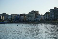 View of Crotone, Calabria. View of Crotone from the seafront, Calabria - Italy royalty free stock images