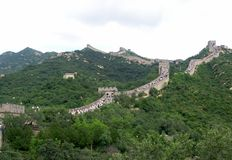 View of Great Wall of China Royalty Free Stock Photo