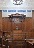 View of Crown Court room inside St Georges Hall, Liverpool, UK. Built between 1842 and 1855 royalty free stock photos