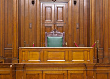 View of Crown Court room inside St Georges Hall, Liverpool, UK Stock Photos