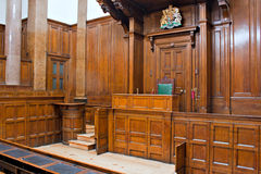 View of Crown Court room inside St Georges Hall, L Royalty Free Stock Photos