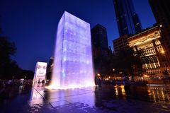 View of the Crown Fountain in Millennium Park in Chicago. Royalty Free Stock Photo