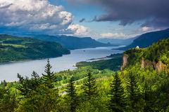 View of Crown Point and the Columbia River  Royalty Free Stock Photos