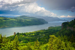 View of Crown Point and the Columbia River  Royalty Free Stock Image