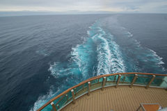 View from a cruise ship. View of the ocean taken from the back of a cruise ship in the bay of biscay Royalty Free Stock Photos