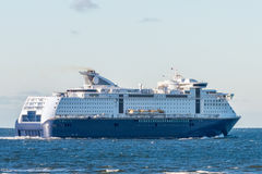 View of the cruise ship in the sea Royalty Free Stock Photo