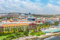 View from a cruise ship on Willemstad Stock Photography