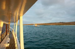 View from cruse yacht,Galapagos. Stock Photography