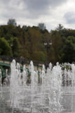 View of crystal streams of water Tsaritsyno fountain. Moscow. Russia. Royalty Free Stock Photos