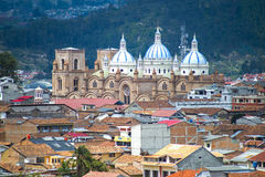 View of the Cuenca Cathedral Stock Photography