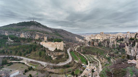 View of Cuenca and the Parador de Turismo, Spain Royalty Free Stock Photography