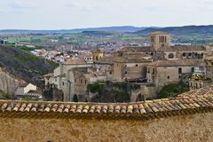 A view of historic part of Cuenca, Spain royalty free stock photo