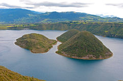 View of the Cuicocha lake Stock Photos