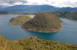 View of the Cuicocha lake Royalty Free Stock Image