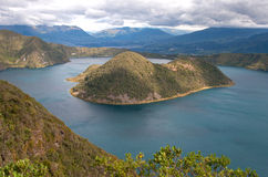 View of the Cuicocha lake Royalty Free Stock Photos