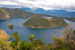View of the Cuicocha lake Stock Photography