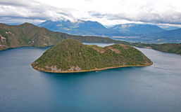 View of the Cuicocha lake Royalty Free Stock Images