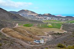 View of Cultivated Field. In the Canary Islands stock image