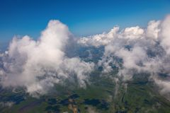 View of a cumulus clouds from above royalty free stock photos