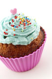 View of a cupcake with decoration Stock Images