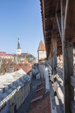 View from the curtain wall in Tallinn, Estonia stock image