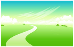 The view of Curved path Royalty Free Stock Photo