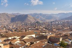 View of Cusco city in Peru royalty free stock photos