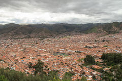 View of the Cusco city Royalty Free Stock Photos