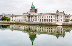 View of the Custom House, a neoclassical building Stock Image