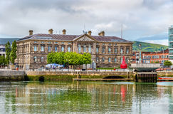 View of Custom House over the river Lagan Royalty Free Stock Images