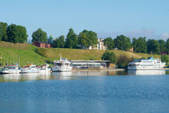 A view of the customs house in the harbour of Lappeenranta, summer day. Finland Stock Photography