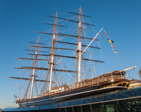 View of the Cutty Sark in London Stock Image