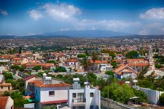 View on Cyprus village. HDR image Stock Images