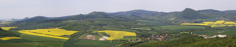 View on the Czech Central Mountains Stock Photos