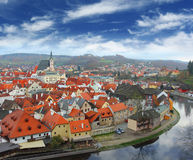 View on Czech Krumlov Stock Photography