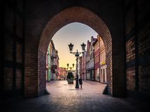 View from Czluchowska gate in Chojnice, Poland royalty free stock photos